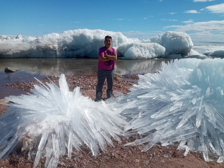 ice formations on nunavut shores