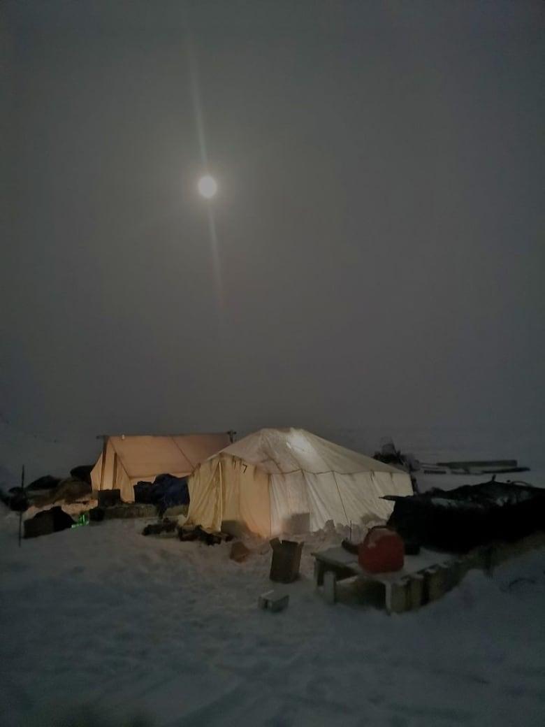winter camping in nunavut