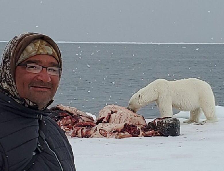 inuk with polar bear