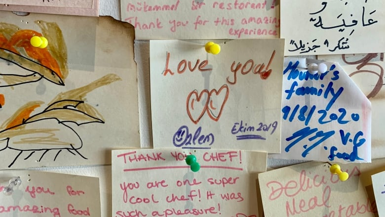 notes of support at flame food design restaurant