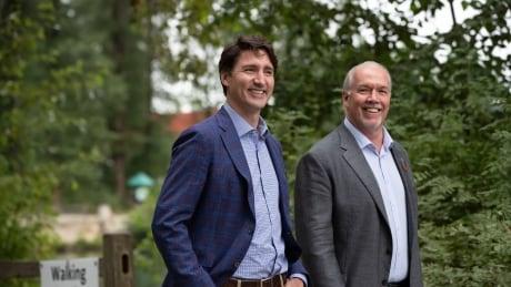 Trudeau Horgan BC