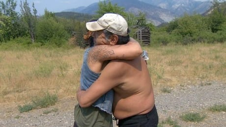 Neighbours come together in community isolated by Lytton fire