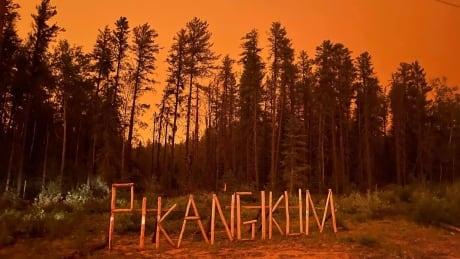 Forest fires in Pikangikum