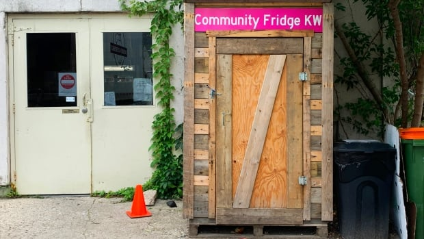 Community fridge in downtown Kitchener 'about filling hungry stomachs,' organizer says