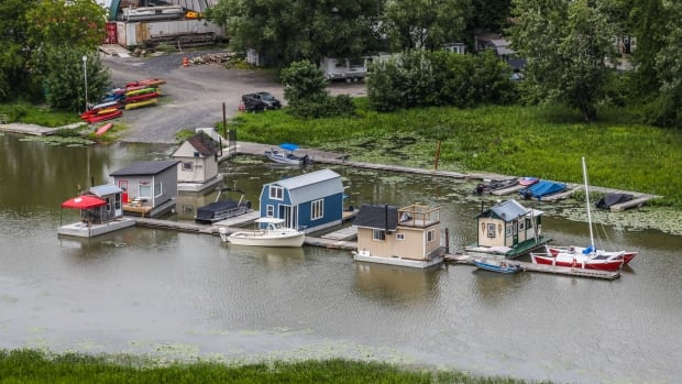 Muddy waters: Residents fight to remove 'floating campground'   CBC News