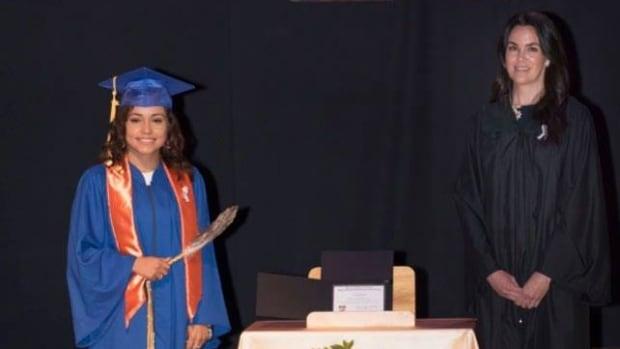Mi'kmaw student honours residential school survivors at graduation ceremony