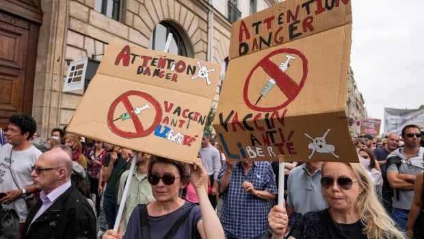 Thousands in France protest against COVID-19 vaccinations, passes