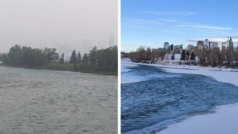 Before And After Smoky Skies