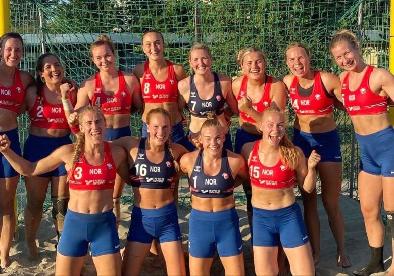 Pink Offers to Pay Fines of Norwegian Women's Beach Handball Team for Wearing Shorts Instead of Bikini Bottoms