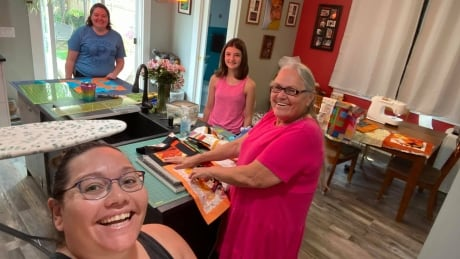 Family affair at the sewing room