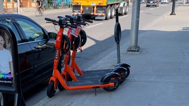 Boot scoot: Carelessly parked e-scooters hurting Ottawa business | CBC News