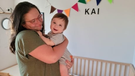 Jasmine Evanson and her 10-month-old son, Kai.