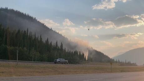 Wildfire near  Lac des Arcs