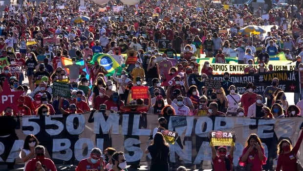 Brazilian protesters call for impeachment of Bolsonaro for 2nd time in a month | CBC News