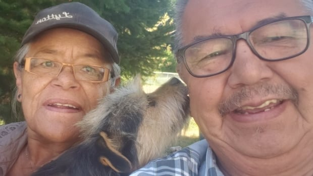 Elder reunited with lost dog weeks after wildfire destroyed his home in Lytton First Nation | CBC News