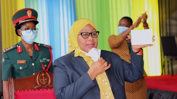 Tanzanian president gets COVID-19 vaccine dose, urges others to follow her lead
