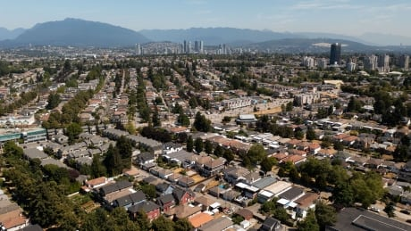 Vancouver's Kingsway corridor, seen from East Vancouver on July 29, 2021.