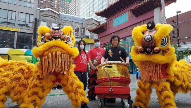 Chinese lion dancers set to bring back joy   CBC News