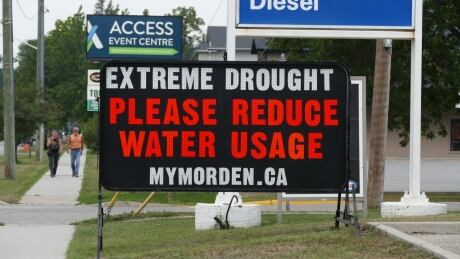 Morden drought sign