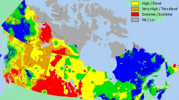 Sask. has largest area of 'extreme fire risk' in country: Natural Resources Canada