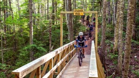 Bike on Bonshaw Trail, PEI, July 2021