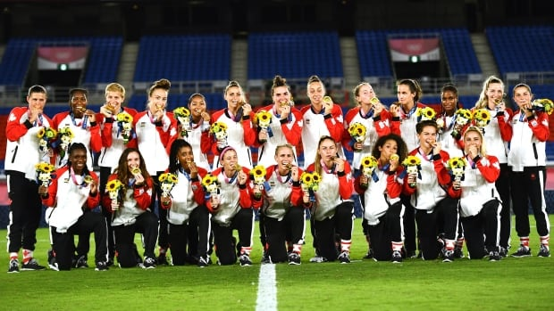 Canadian women's soccer team delivers thrilling Olympic gold-medal victory over Sweden   CBC Sports