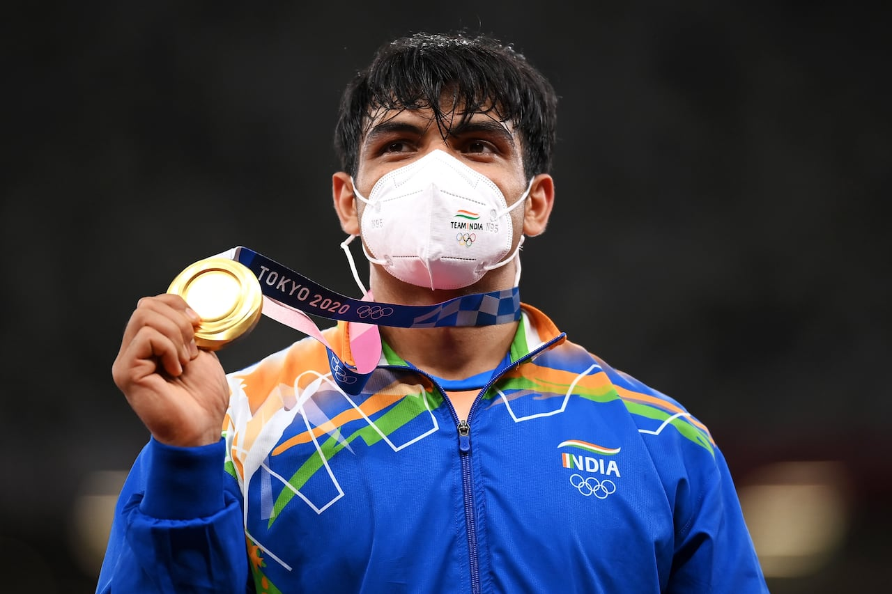 Neeraj Chopra wins India's 1st Olympic gold medal in track and field   CBC Sports