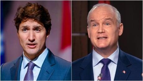 Justin Trudeau Erin O'Toole composite