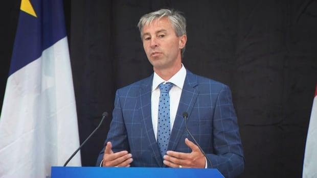 N.S. premier-designate Tim Houston speaks to reporters