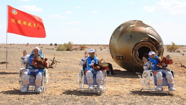 Chinese astronauts return to Earth after 90 days aboard space station