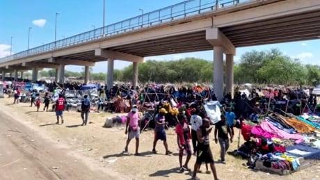 Migrants Del Rio, Texas