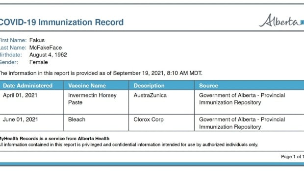 Why Alberta's new COVID-19 vaccine card could lead to fakes | CBC News