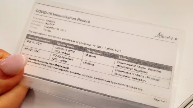 Wide range of 'essential services' won't be eligible for Alberta proof-of-vaccination program | CBC News