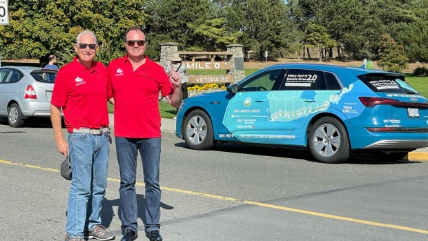 Vancouver driver says he's set a new record for fastest Trans Canada Highway journey by electric car   CBC News