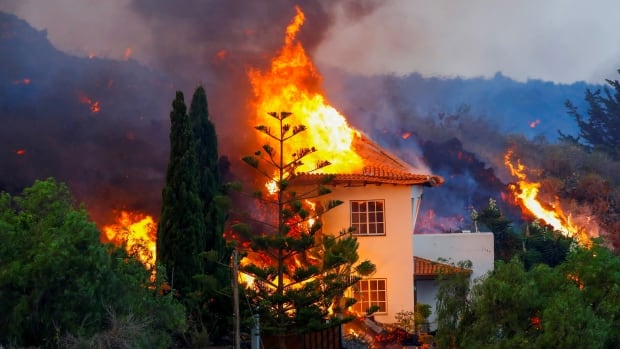 Thousands flee as volcano erupts on Spain's La Palma island, homes destroyed | CBC News