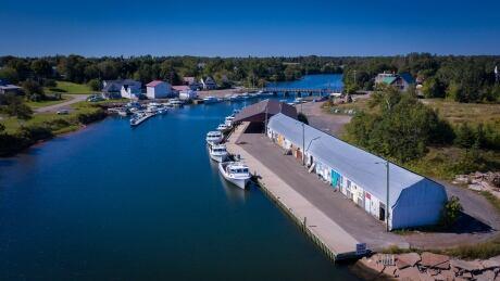 Murray Harbour, PEI, drone shot