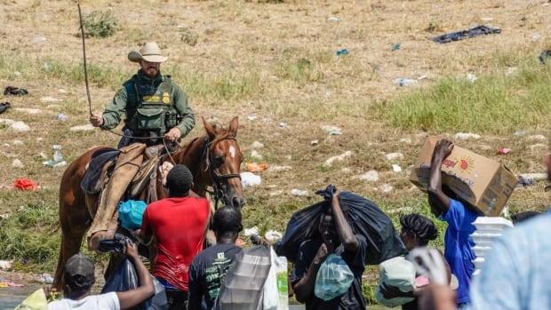 Images of U.S. Border Patrol agents confronting Haitian migrants in Texas are 'heinous,' says congresswoman - CBC.ca
