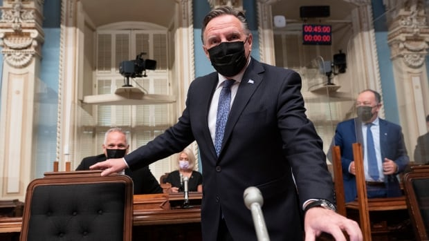 CAQ government tables bill to outlaw protests within 50m of schools, hospitals and vaccination sites   CBC News