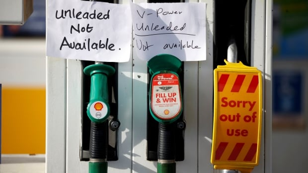 Some gasoline stations in UK run out of fuel as pandemic supply chain crisis deepens