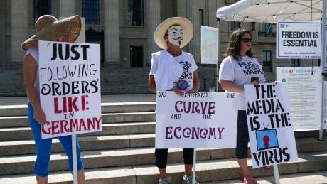 Anti mask rally Winnipeg