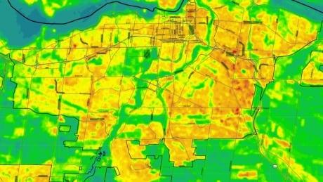 Ottawa heat map