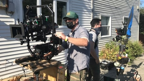 Film crew/ Hudson and Rex