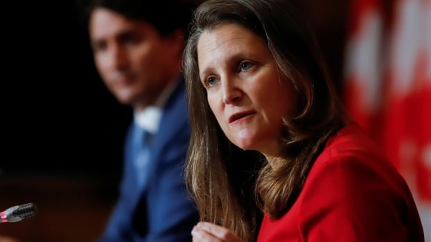 Government to spend $7.4B transitioning to new pandemic support programs: Freeland | CBC News