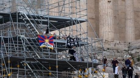 Greece Beijing 2022 Protest