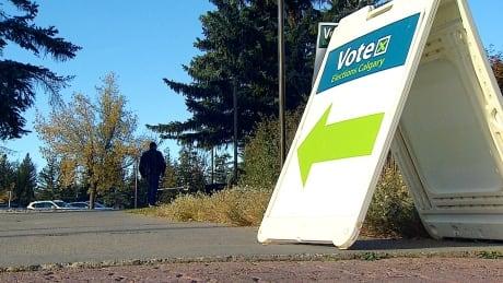 Calgary Vote 2021 Elections Calgary sign
