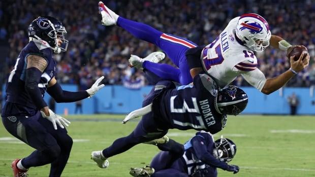 Titans stop Josh Allen on 4th down in final seconds to upset Bills