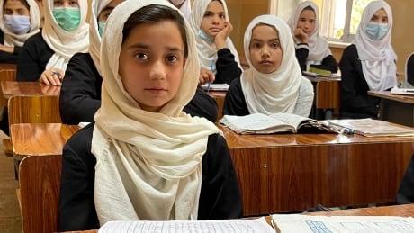 Grade six class at Kabul's Malalai school
