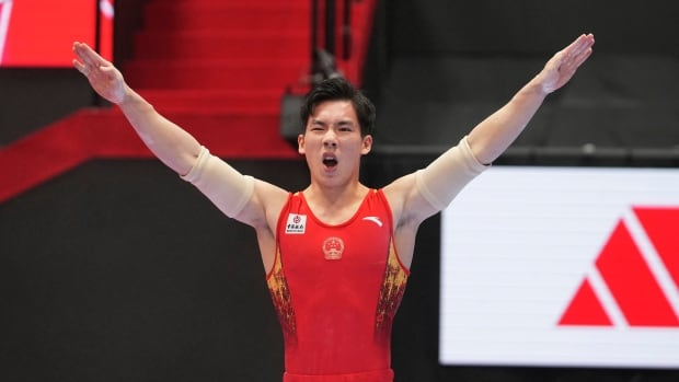 Zhang Boheng takes gold in men's all-around final at gymnastics worlds