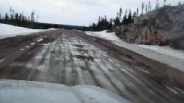 A section of the Trans-Labrador Highway in April 2011.
